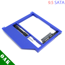 "[Free DHL] New Plastic 9.5mm SATA to SATA Second HDD Caddy for Apple Macbook Pro Unibody 13"" /15""/17""  Blue Color - 100pcs/lot"
