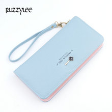 Buy 2017 New Brand Female Purses Luxury Designer Women Wallets Long Zipper Ladies Purse Leather Clutch Woman Wallet Card Holder for $7.40 in AliExpress store
