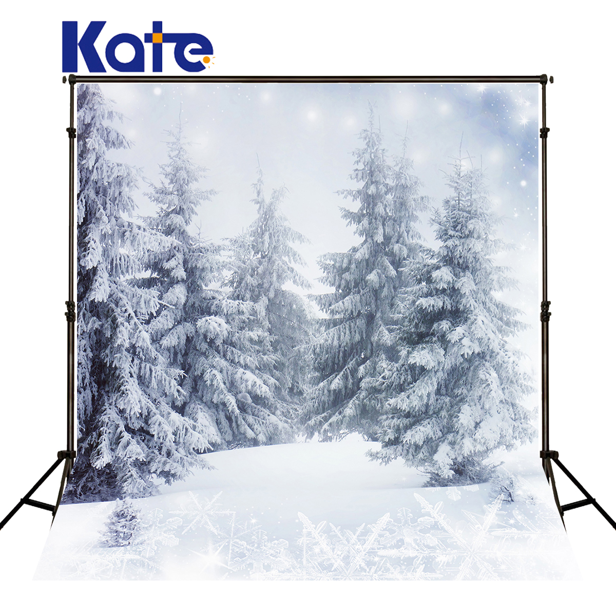 Kate Christmas Backdrop Photography Frozen Snowflake Snow Backdrops Winter Forest Backgrounds Fotografia For Photo Shoot<br>