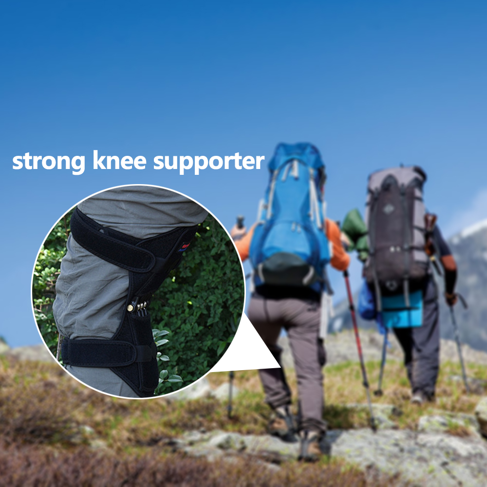 Human - Knee Protection Booster Power Support Knee Pads Powerful Rebound Spring Force Sports Reduces Soreness Leg Protection