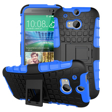 "PC+TPU Phone Cases For HTC One 2 One M8 M8s M8x 5.0"" Housing Covers Rubber Armor Hybrid Defender Tyre Case Durable Shell Hood"