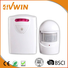 1 Receiver and 1 PIR Motion Sensor Detector Wireless IR Infrared Motion Sensor Alarm Security Detector Home System Alert System
