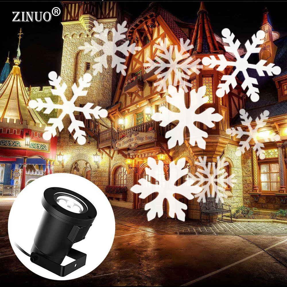 ZINUO Christmas Laser Snowflake Projector Outdoor LED Waterproof Disco Lights Home Garden Star Light Indoor Shower Decoration <br>