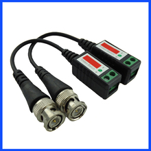 Twisted CCTV Video Balun Passive Transceivers 3000FT Distance UTP Balun BNC Cable Cat5 CCTV UTP Video Balun(China)
