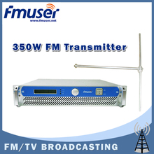 Free shipping FMUSER FSN-350 350w 2U Professional FM Broadcast RadioTransmitter exciter+ FU-DV1 Dipole antenna + 20M 1/2'' CABLE