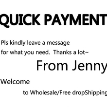Quick Payment Thanks For Shopping FROM JENNY FOR VIP CUSTOMER/ FREE Drop shipping(China)
