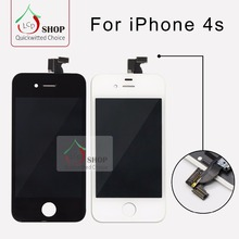 10 PCS/LOT Grade AAA+++ LCD For iPhone 4S Screen Replacement No Dead Pixel High Quality Display Free Shipping DHL(China)