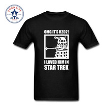 2017 New Summer Funny Tee OMG It's R2D2 Dalek Star Wars Dr Who Trek Cotton T Shirt for men
