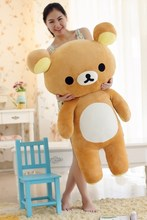 filling toy , large 110cm Rilakkuma bear plush toy relax teddy bear soft throw pillow birthday gift w5308(China)