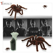 TOFOCO High Simulation Remote Control Electronic Spider Toys Scary Tricky Toys Funny Electronic Pets with Retail Box