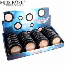 Miss Rose 24pcs/set Double Layers Compact Powder With Puff Cosmetic, Long Lasting Concealer Pressed Powder Makeup Kit A296(China)