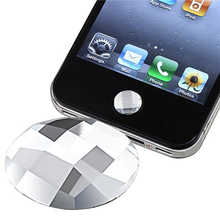 White Bling Diamond Home Button Stickers for Iphone SE/6/6s/6s plus 6pcs/set