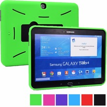 For Samsung Galaxy Tab 4 10.1 (T530/T531/T535) & 3 10.1 (P5200/P5210/P5220 Case Camera Cutout,  Access to Ports/Plugs Kickstand)