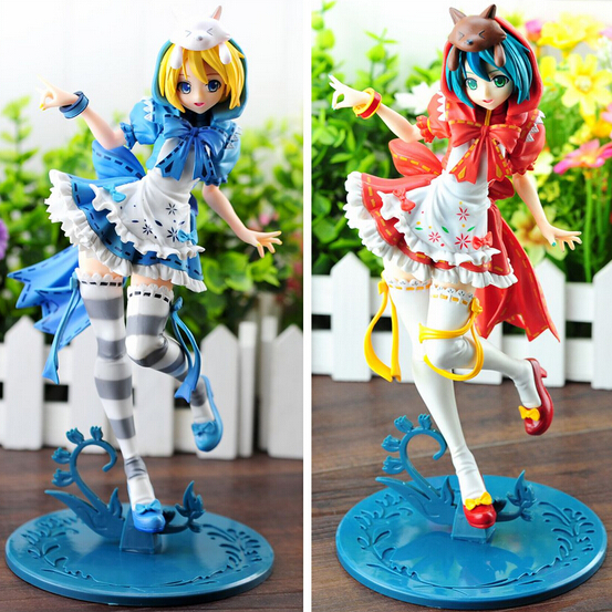 23cm new Hatsune Miku red pvc model toy little red blue riding hood western toys figure sexy anime action figure free shipping<br>