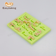 2016 factory direct sale Beautiful Number & Alphabet Silicone molds and baking kitchen appliances
