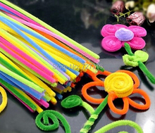 "12"" x 6mm Wholesale mix color Chenille Stems Pipe Cleaners Craft DIY Free Shipping 100pcs/lot"