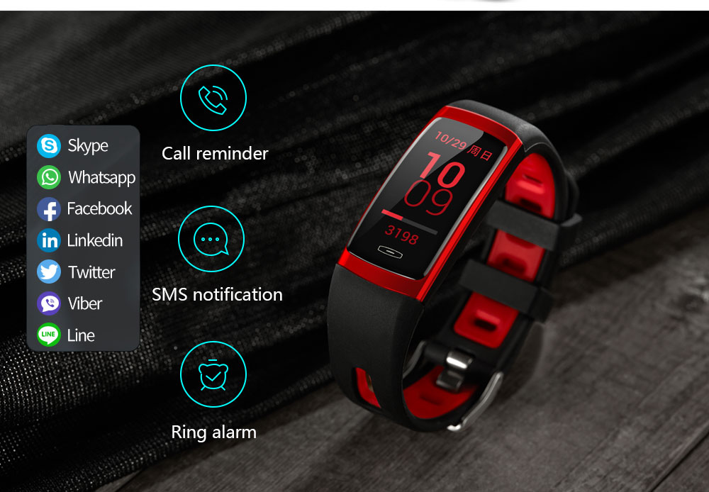 CD09 Smart Wristband Cicret band Watch Heart rate monitor Smartband Pulsometer Sport health Fitness Bracelet tracker for IOS (13)