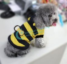 Pet Puppy Apparel Cute Honey Bumble Bee Design Costume Outfit Apparel Clothes Hot 2016 New