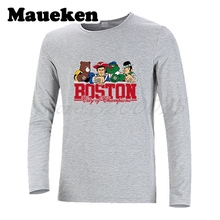 Long Sleeve Boston Men City For New England Bruins Red Patriots Sox T-Shirt T Shirt Men's Autumn Winter W17101012(China)