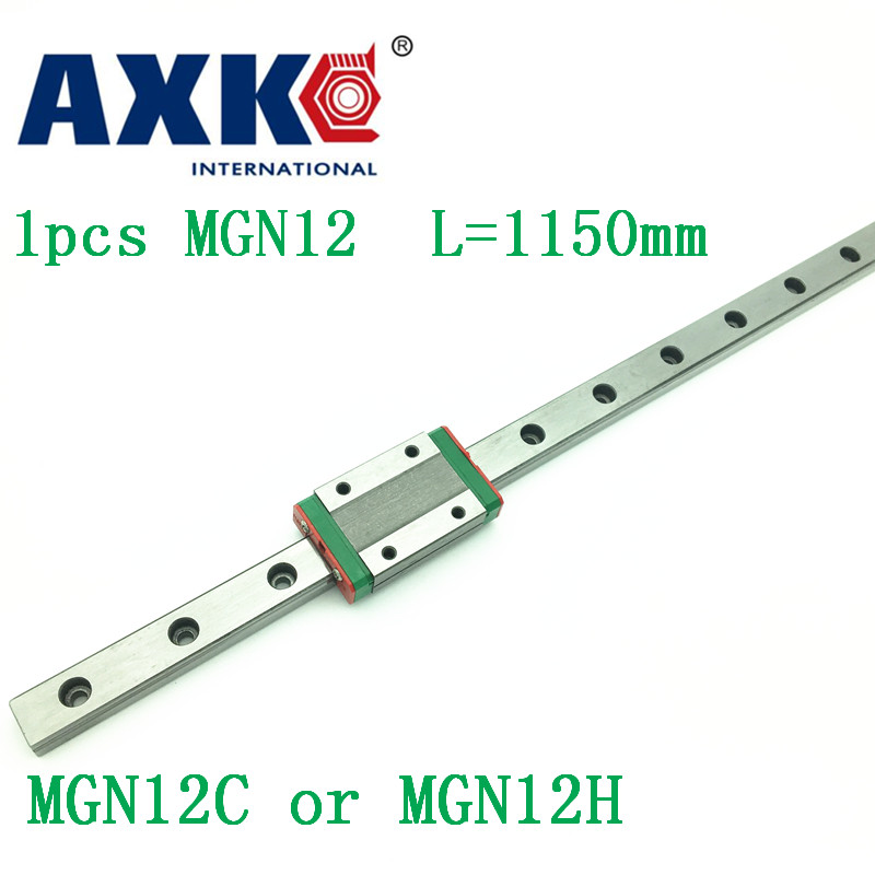 12mm Linear Guide Mgn12 L= 1150mm Linear Rail Way + Mgn12c Or Mgn12h Long Linear Carriage For Cnc X Y Z Axis<br>