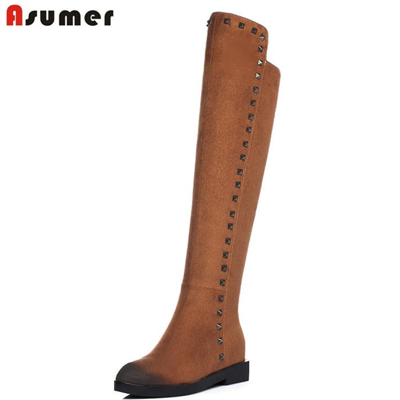 2017 graffiti women knee high boots new arrival in autumn height increasing pointed toe zip-up motorcycle boots for women<br><br>Aliexpress