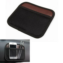 Accessories iPhone Pen Ticket Storage Bag Organiser Holder Net Pouch Fit For BMW AUDI VW Ford Toyota Benz Honda Buick