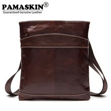 PAMASKIN 2018 New Arrivals Men Shoulder & Cross-body Bags Premium Genuine Leather Import Brand Designer Men Messenger Bags Hot(China)