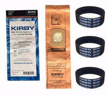 For Kirby 9 Genuine Vacuum Micron Magic Bags G4 & G5 197394 Generation 4 Gen 5 Kirby Bag, 197394 (9 pack) & 3 Belts 301291