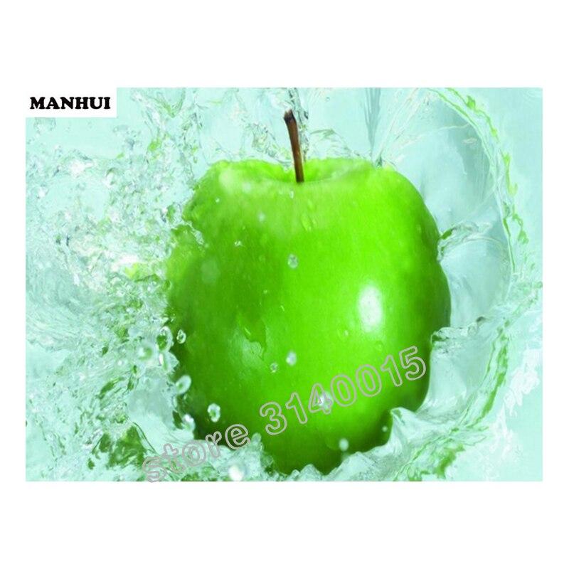 Алмазная вышивка зеленые яблоки 41