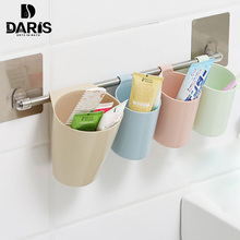SDARISB Bathroom Storage Toothbrush Rack 4 Pieces Family Receive Basket Removable Bathroom Self Bathroom Accessories Rack
