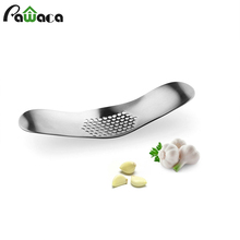 Garlic Presses Tool Stainless Steel Ginger Crusher Chopper Cutter Grinding Slicer Squeeze Mincer Kitchen Accessories Rocker