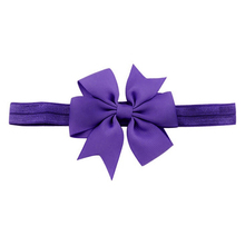 1 Piece Baby Girls Hair Bow Tie Ribbon Decor Hairband Headband (Purple)(China)