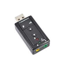 Hot selling Mini 7.1 CH Channel USB Sound Card Mic Speaker 3D External Sound Cards Adapter for Desktop Notebook