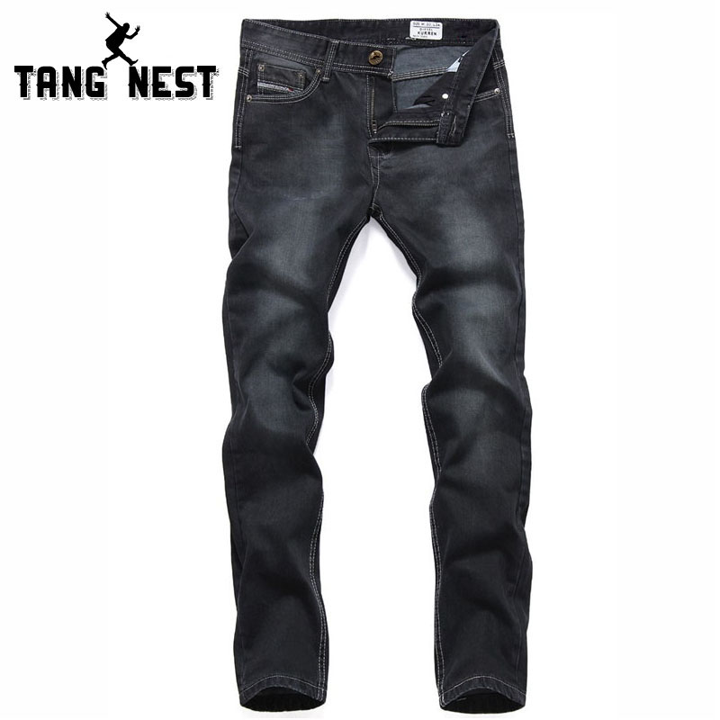 TANGNEST Jeans Homme 2017 Straight Black Mens Jeans Classic Design Good Quality Popular Jeans Men Plus Size 28-40 Jeans MKN662Одежда и ак�е��уары<br><br><br>Aliexpress