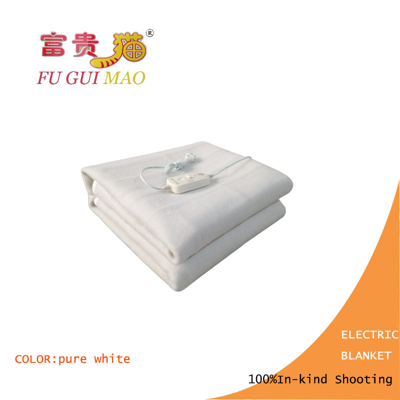 FUGUIMAO Electric Blanket Double Pure White Electric Heating Blanket 220v Heated Blanket Body Warmer 150x120cm Heating Mattress<br>