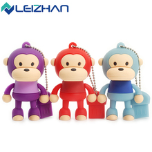LEIZHAN USB Flash Drive Cartoon Cute Monkey 4GB 8GB 16GB 32GB Pendrive External Memory Storage Pen usb flash card u disk - WinStone store