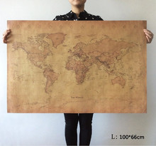 Choose size: The old World Map huge large Vintage Style Retro Paper Poster Home wall decoration(China)