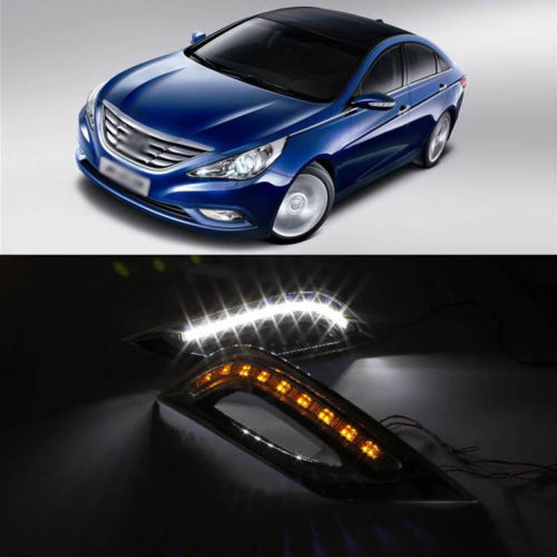 Bargain Offer Running DRL LED with Turn Light for Hyundai Sonata 2011 2012<br><br>Aliexpress