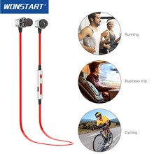 Buy Wonstart Bluetooth Headphones IPX4 Waterproof Wireless Headphone Sports Bass Bluetooth Earphone Mic phone iPhone xiaomi for $40.00 in AliExpress store