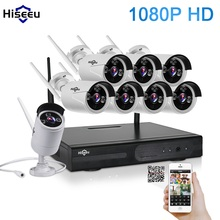 1080P Wireless CCTV System 2M 8ch HD wi-fi NVR kit Outdoor IR Night Vision IP Wifi Camera Security System Surveillance Hiseeu