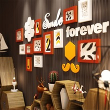 17pcs Breaking Bad Moustache Photo Picture Glasses Wood Frame Sets For Wall Pictures, Home Decorative Art Print Painting
