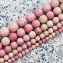 "Wholesale Natural Pink Rhodonite 4,6,8,10,12mm Round Loose Beads 15""/38cm,For DIY Jewelry Making !Mixed wholesale for all items!"