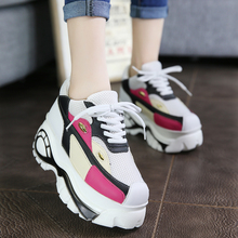 2017 New Mesh Fashion Spring Autumn Heavy-Bottomed Platform Sneakers Women Casual Korean Students Wild Breathable Wedges Shoes