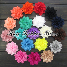 "Toplay 40pcs/lot 3"" Poinsettia Winter Flower Handmade Fabric Flowers For Girls Hair Accessories Boutique Hair Flower"