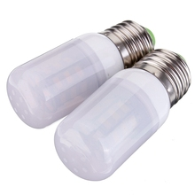 New E27 3.5W LED Bulb Long Lifetime 27 5730 SMD 24V With Frosted Cover Pure /Warm White Light Corn Bulb