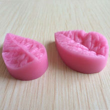 1Pc New 3D Leaf Veiner Shape Silicone Mold Cake Mould Fondant Bakeware Decorating(China)