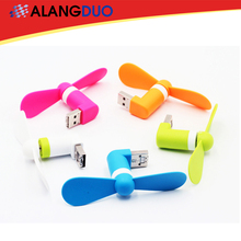 USB Gadget 2 in 1 Portable Cell Phone Mini Electric Fan USB Cooling Cooler Fan For iPhone Android Samsung Phone ventilador usb