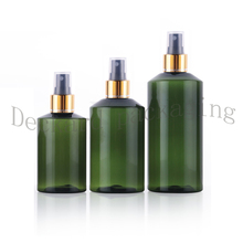 30pcs 100/150/200ml PET Bottles With gold collar Spray Pump Container High-grade Empty Plastic Spray Bottle Refillable Perfume(China)