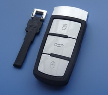 New replacement case Magotan 3 button remote smart key shell for VW WITH smart key /car key case