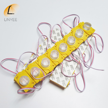 2017 NEW LED Module 3030 COB Lens Module Highlight LED Single color Light Waterproof IP68 DC12V LED  Plastic Injection Moudle
